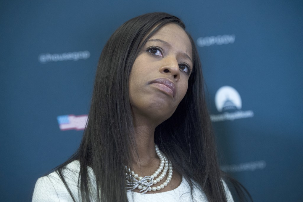 Image: Rep. Mia Love, R-Utah, attends a news conference after a meeting of the House Republican Conference in the Capitol on June 7, 2017.