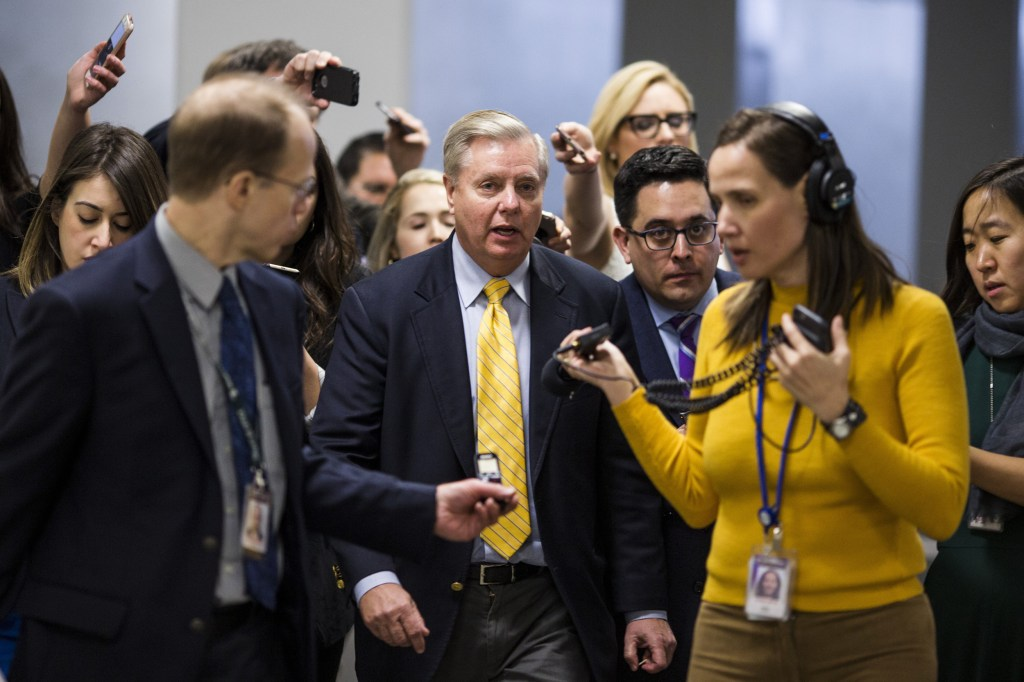 Image: Sen. Lindsey Graham speaks to reporters