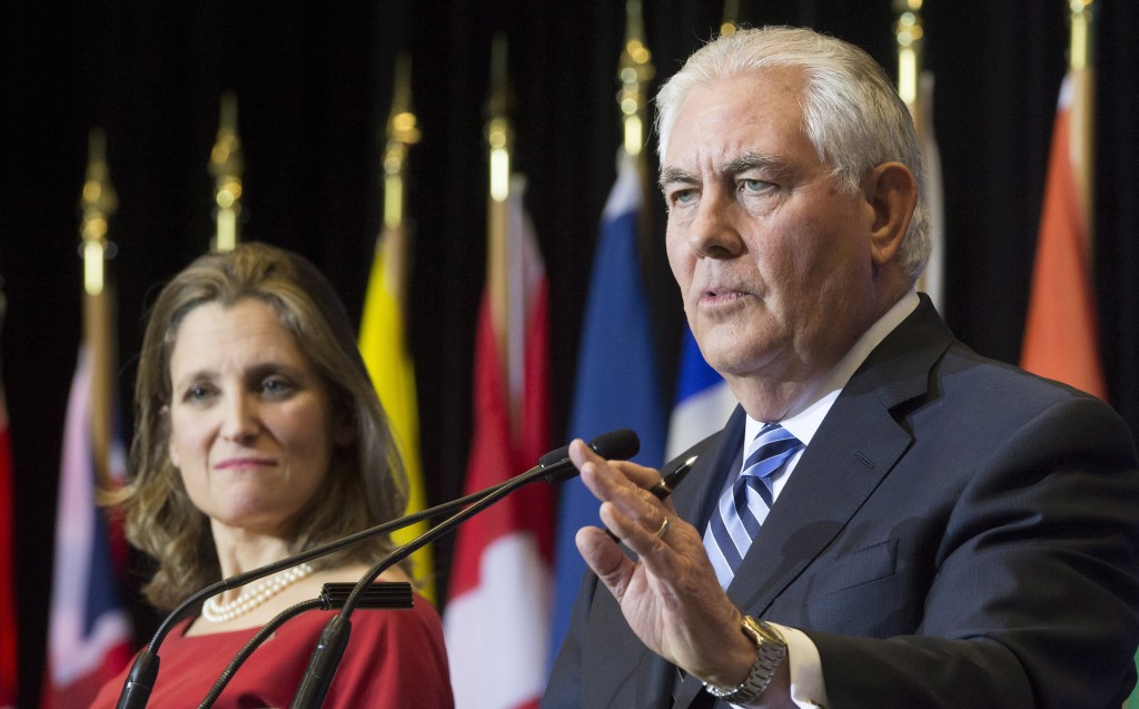 Image: Chrystia Freeland and Rex Tillerson