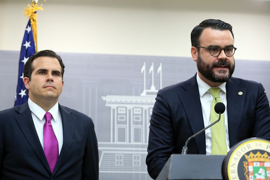 Image: Gov. Ricardo Rossello and Gerardo Portela, director of the island's Fiscal Agency and Financial Advisory Authority.