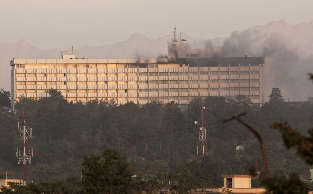 Image: Smoke billows from the Intercontinental hotel during a battle between Afghan security forces and suicide bombers and Taliban insurgents in Kabul June 29, 2011.