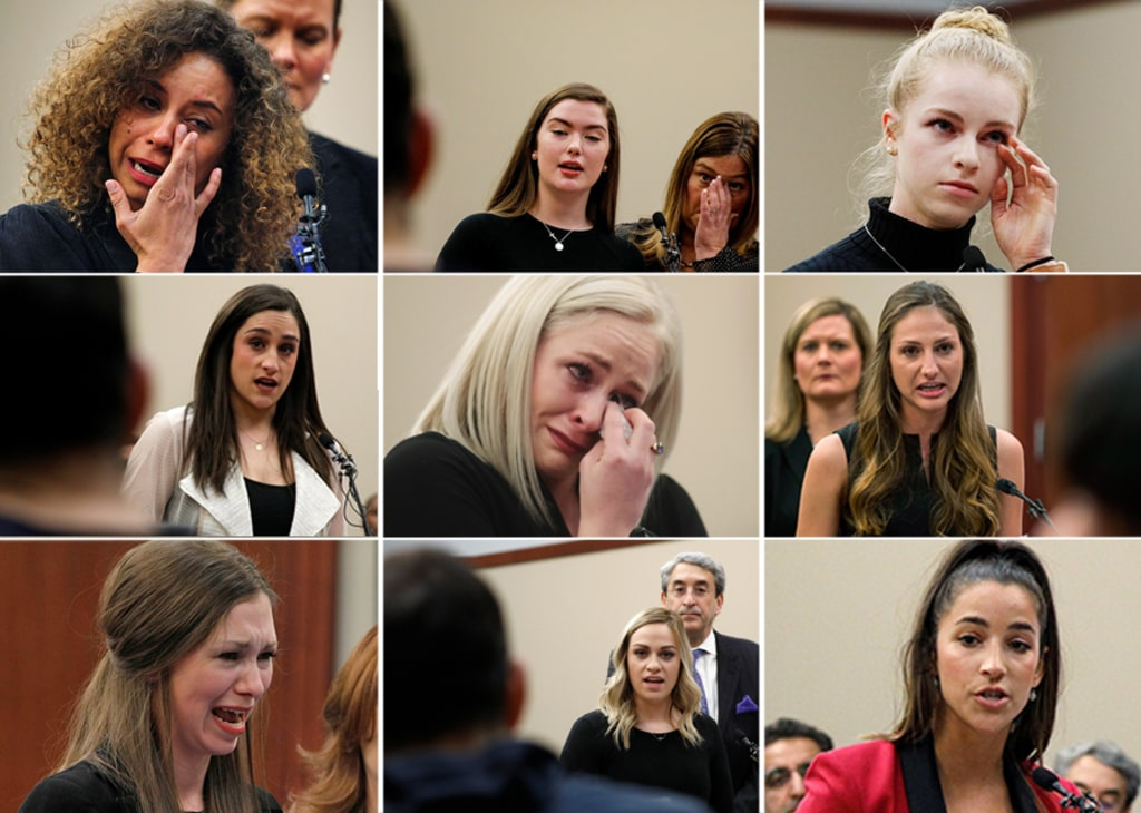 Image result for larry nassar victims in court