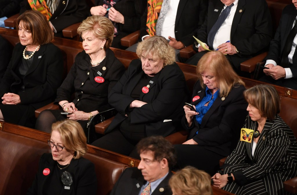 Image: Members of Congress attend the State of the Union
