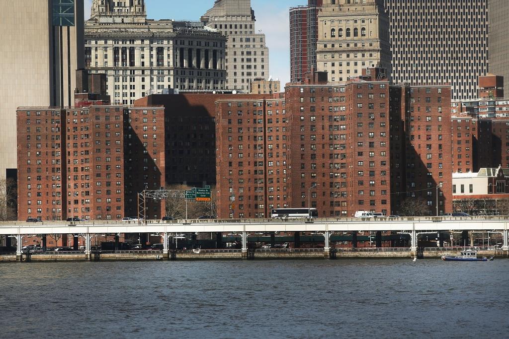 Image: Public housing in lower Manhattan