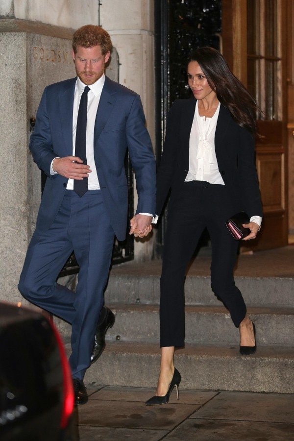 Image: Prince Harry and Meghan Markle on Feb. 1, 2018
