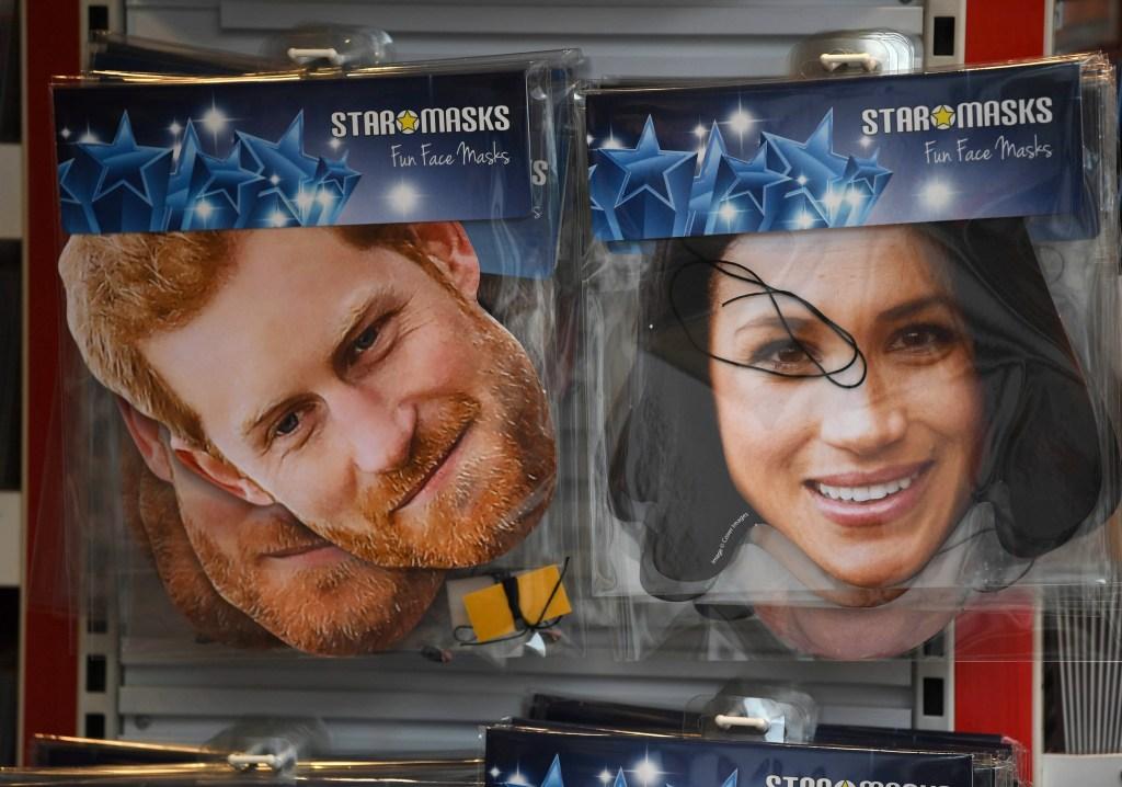 Image: Prince Harry and Meghan Markle masks