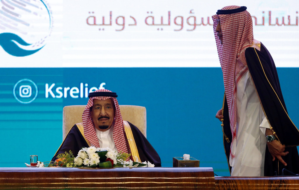 Image: Saudi Arabia's King Salman bin Abdulaziz Al Saud attends Riyadh International Humanitarian Forum in Riyadh
