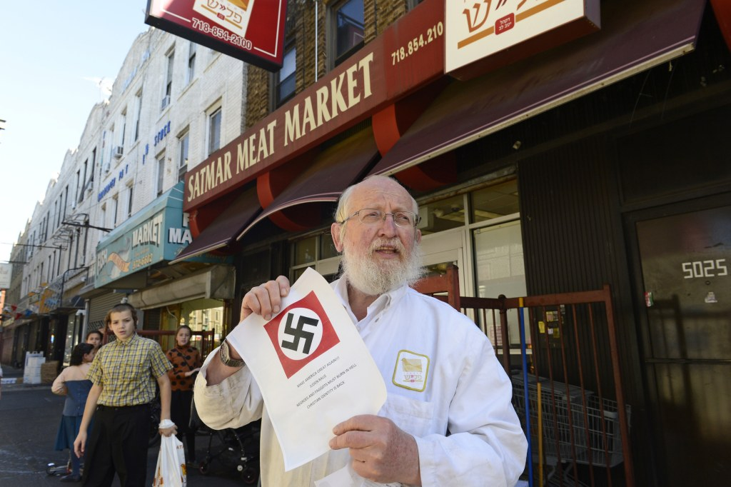 Swastika Letters in Borough Park