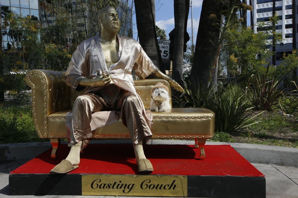 Image: Harvey Weinstein statue in Los Angeles