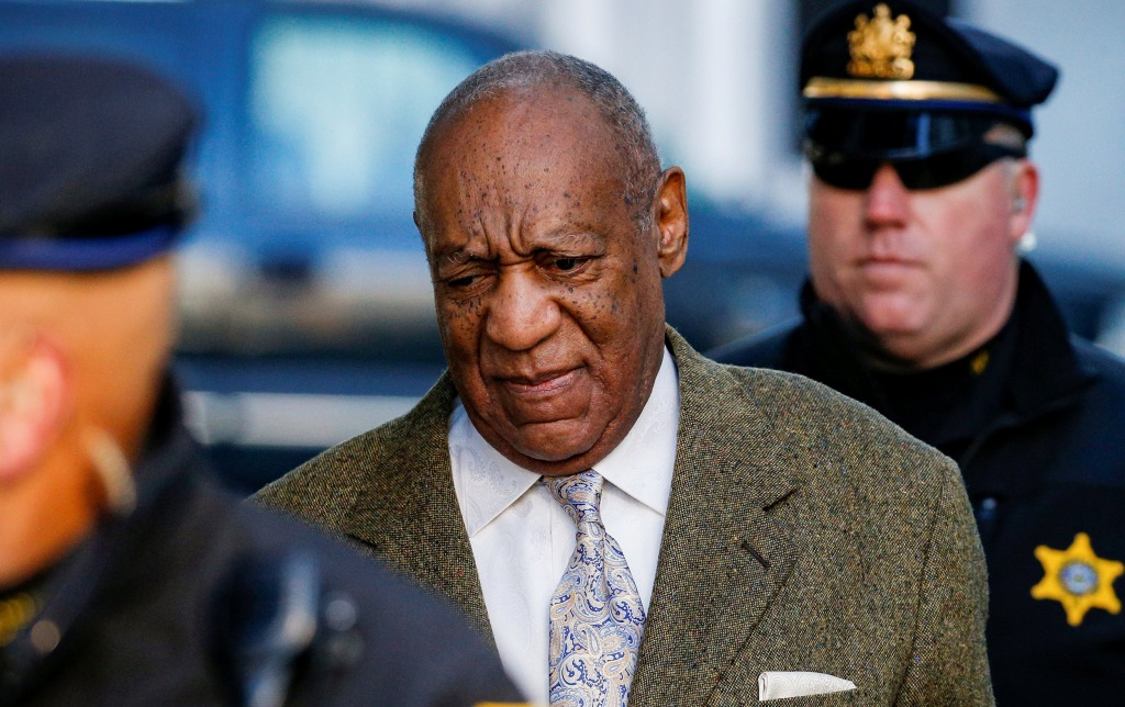Image: Actor and comedian Bill Cosby arrives for a pretrial hearing for his sexual assault trial at the Montgomery County Courthouse in Norristown, Pennsylvania