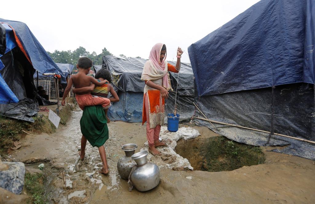 Image: A Rohingya refugee girl