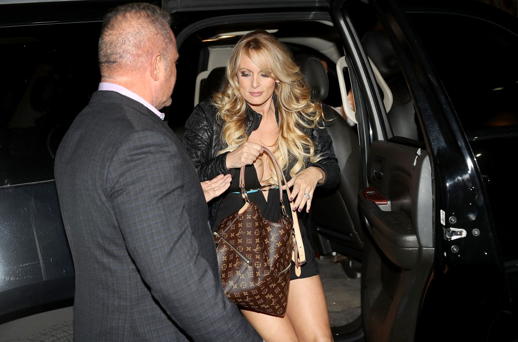 Image: The actress Stephanie Clifford, who uses the stage name Stormy Daniels, arrives to perform at the Solid Gold Fort Lauderdale strip club on March 9, 2018 in Pompano Beach, Florida.