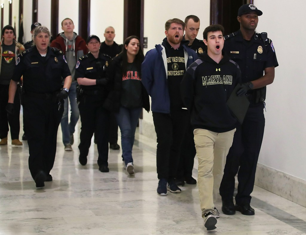 Image: Activist Students Are Arrested At The Capitol While Protesting More Stricter Gun Control Laws