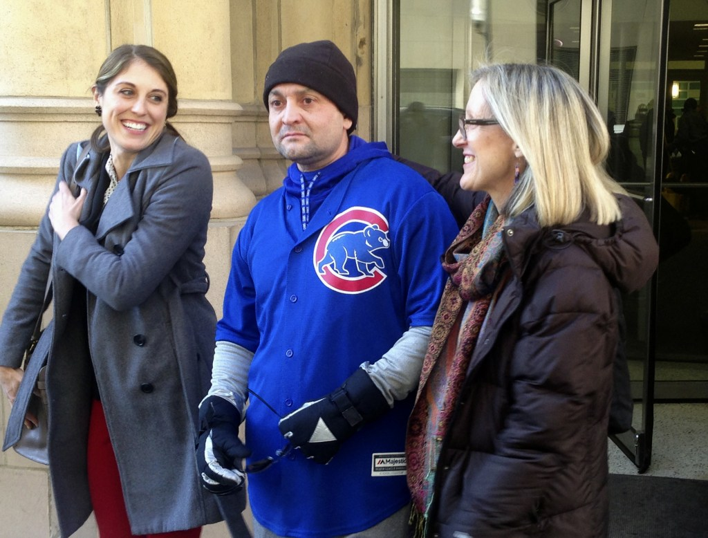 Image: Gabriel Solache after his release from prison