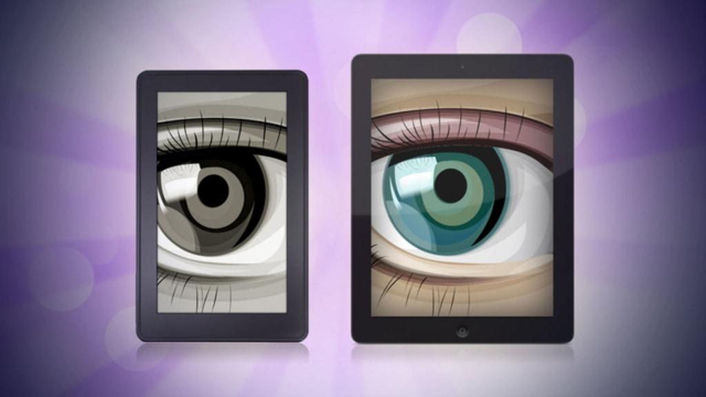 Illustration, e-ink vs. iPad