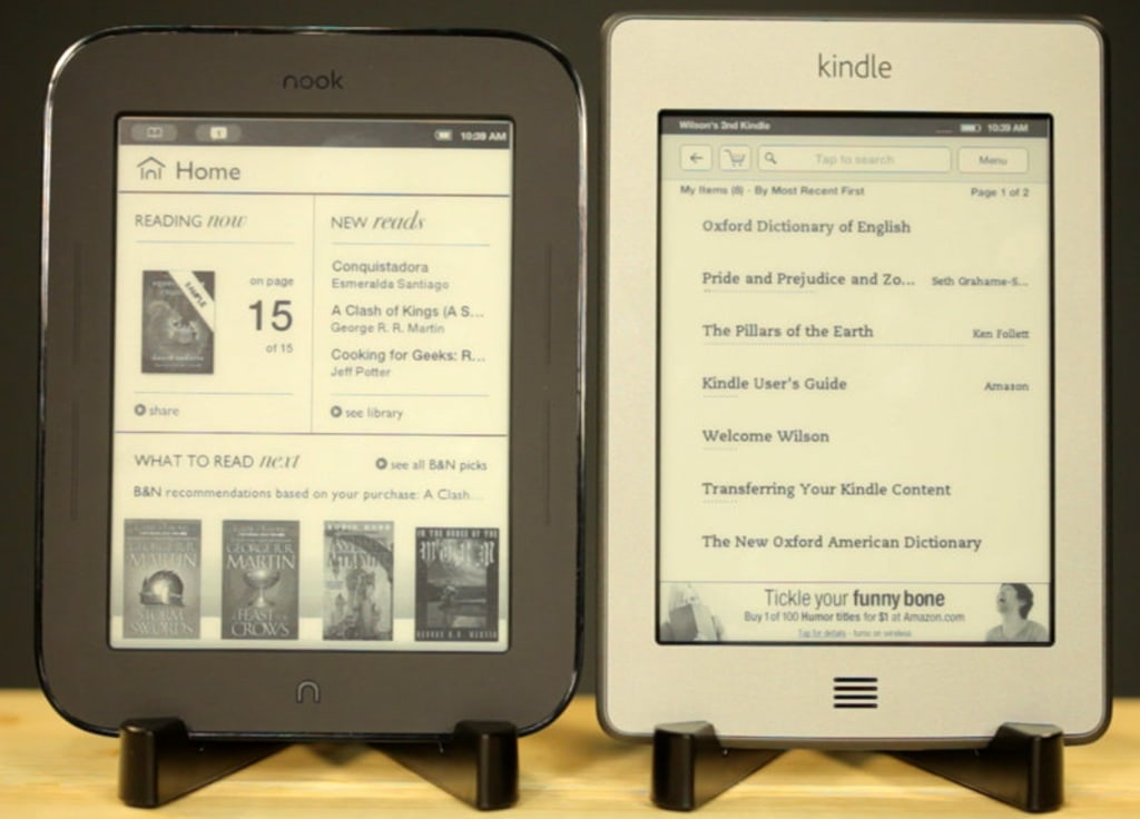 Nook E Reader Vs Kindle: Kindle Vs. Nook: $99 E-ink Touch Readers Face Off