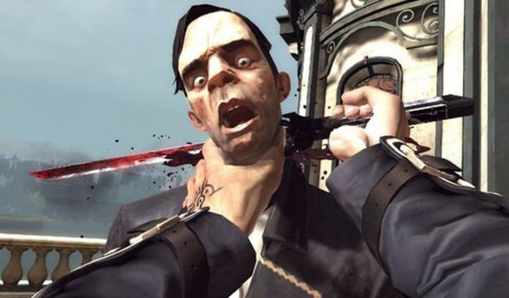 Dishonored neck stab