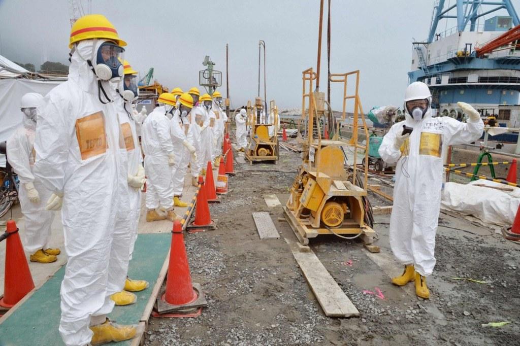 Image of members of a Fukushima prefecture panel