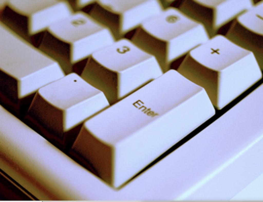 closeup of computer keys