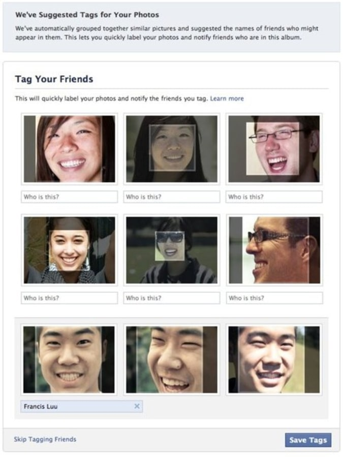 Facebook may add your profile photo to facial recognition
