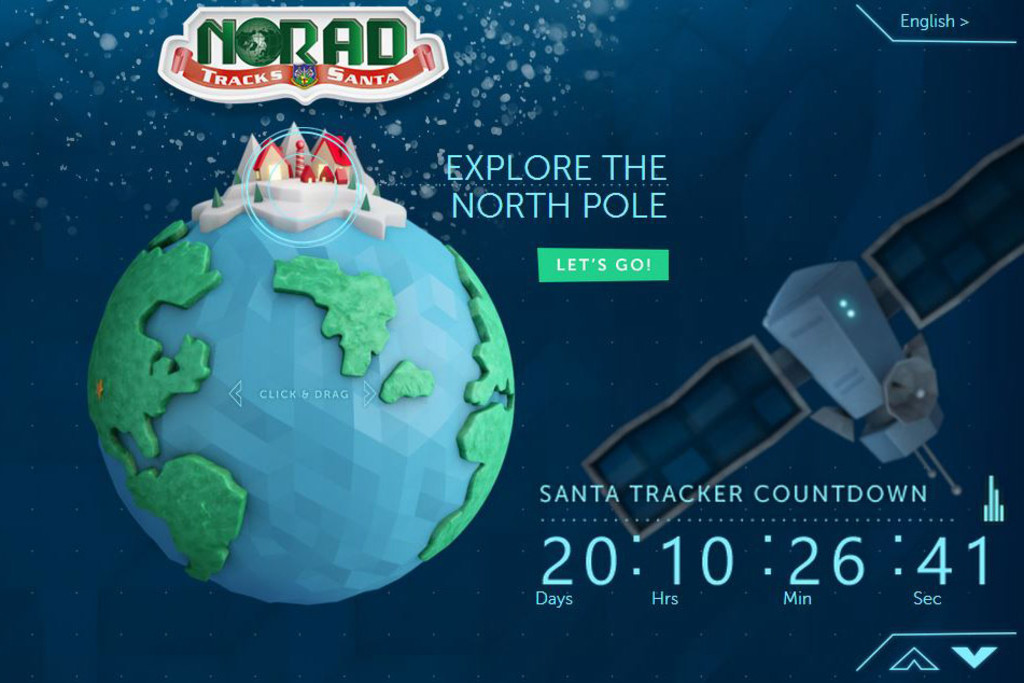 Microsoft and NORAD have teamed up to build the Santa Tracker website.