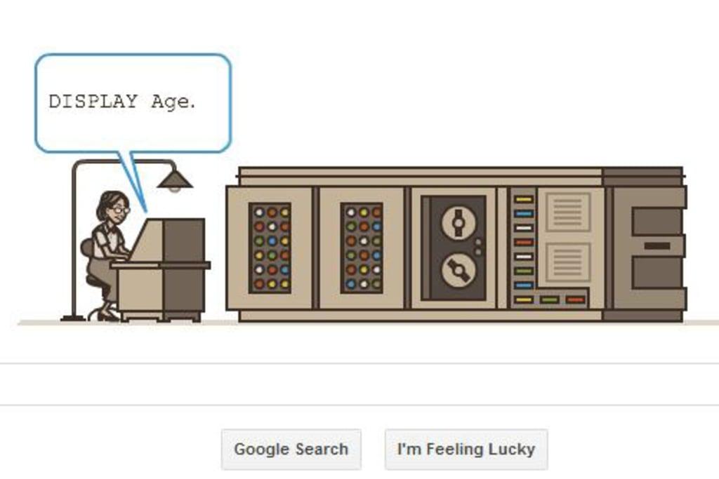 Google celebrates Grace Hopper as part of Computer Science Education Week.