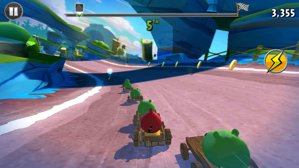 """""""Angry Birds Go!"""" looks surprisingly good for the first 3D mobile game in the series' history."""