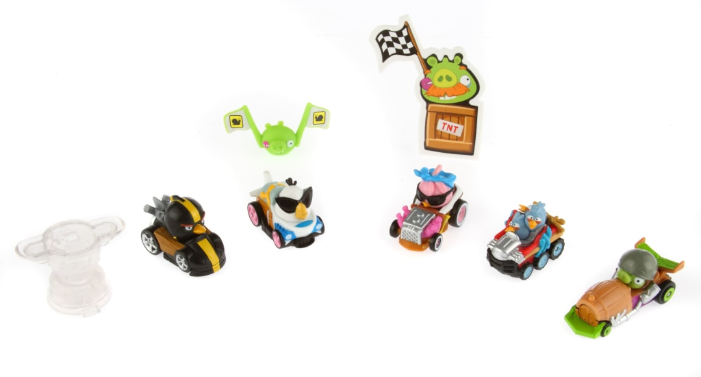 """As with """"Angry Birds Star Wars 2,"""" """"Go!"""" is being released alongside a cluster of cute physical toys."""