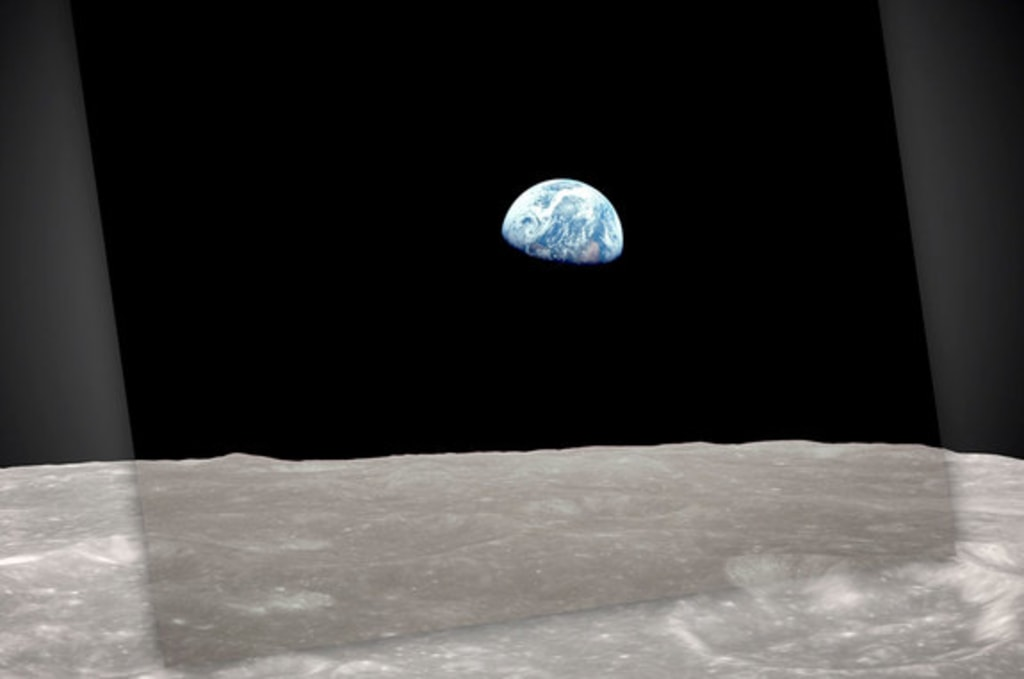 Image result for earthrise photo apollo 8
