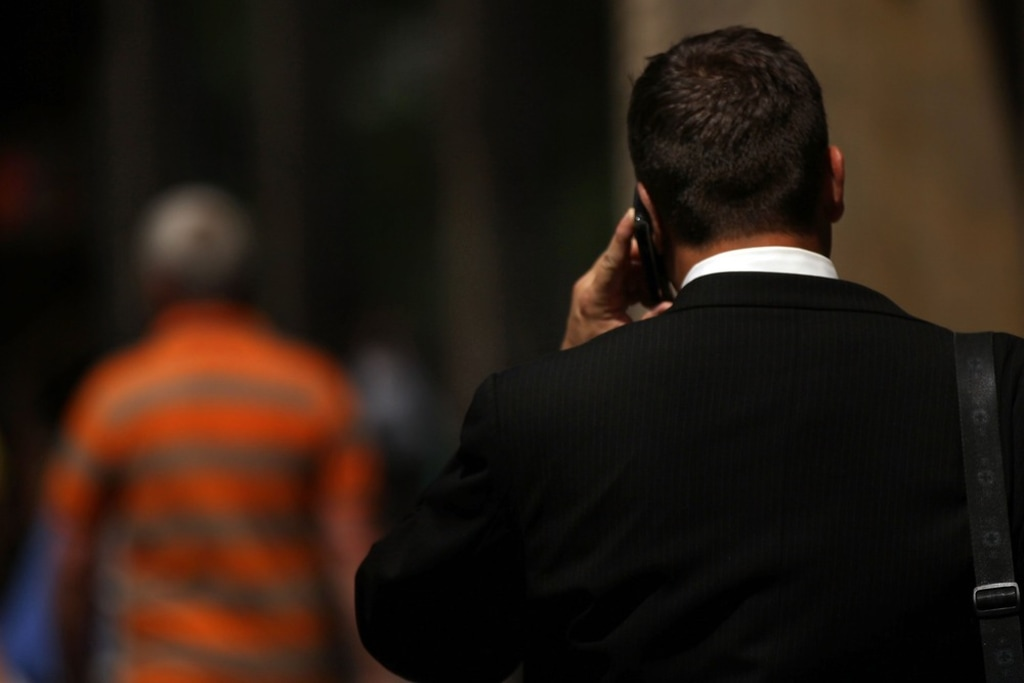NEW YORK, NY - MAY 31:  A man speaks on his mobile phone on May 31, 2011 in New York City.