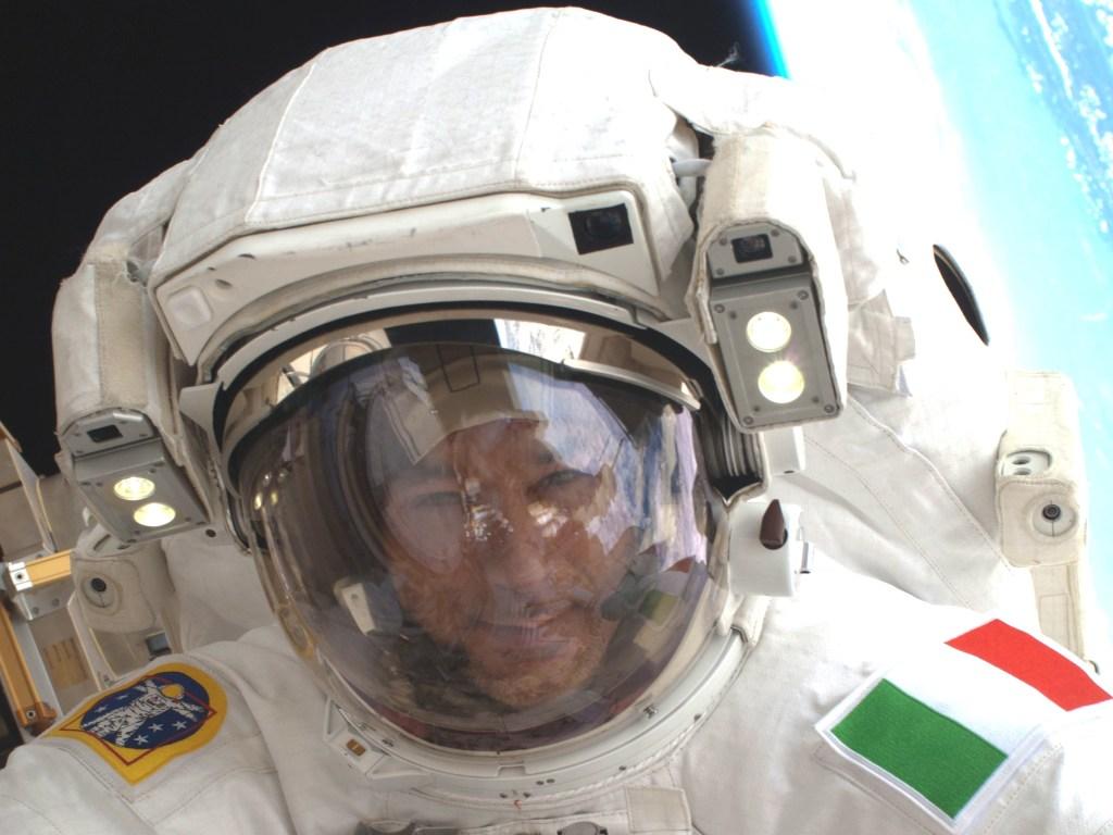 Image: Luca Parmitano in spacesuit