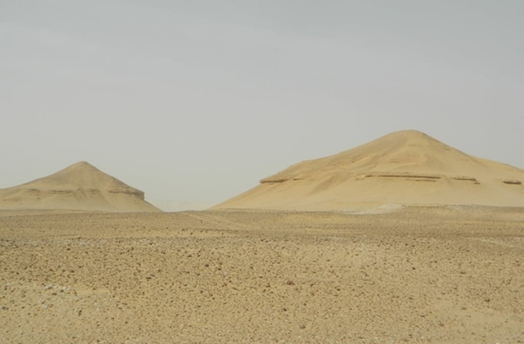 Long-lost pyramids or just natural formations? Answer buried