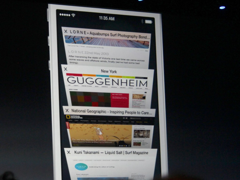 Mobile Safari tab browsing