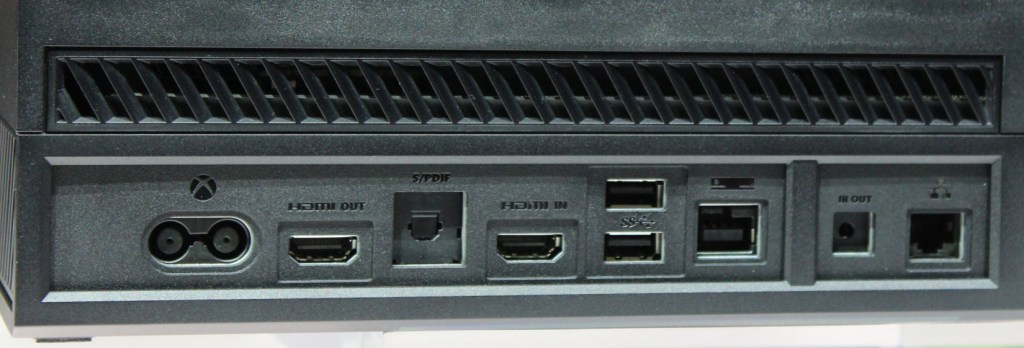 Ports on back of Xbox One