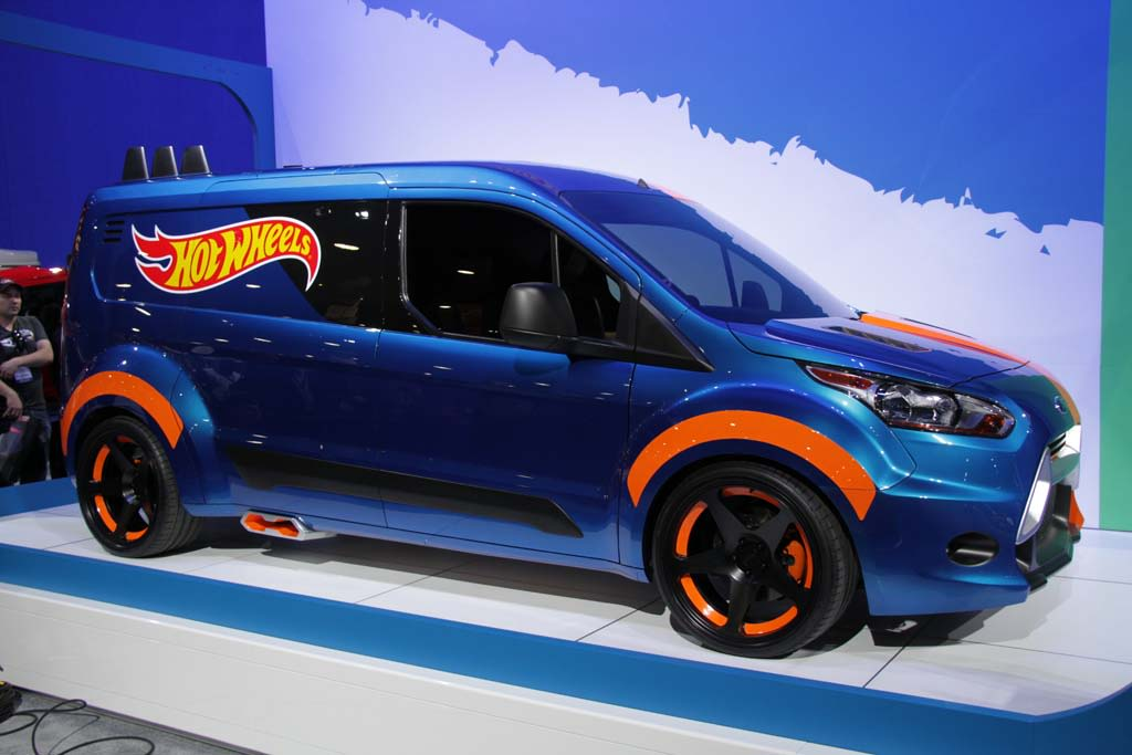 Ford showed off its customized Hot Wheels version of its Transit Connect at the 2013 SEMA Show in Las Vegas.