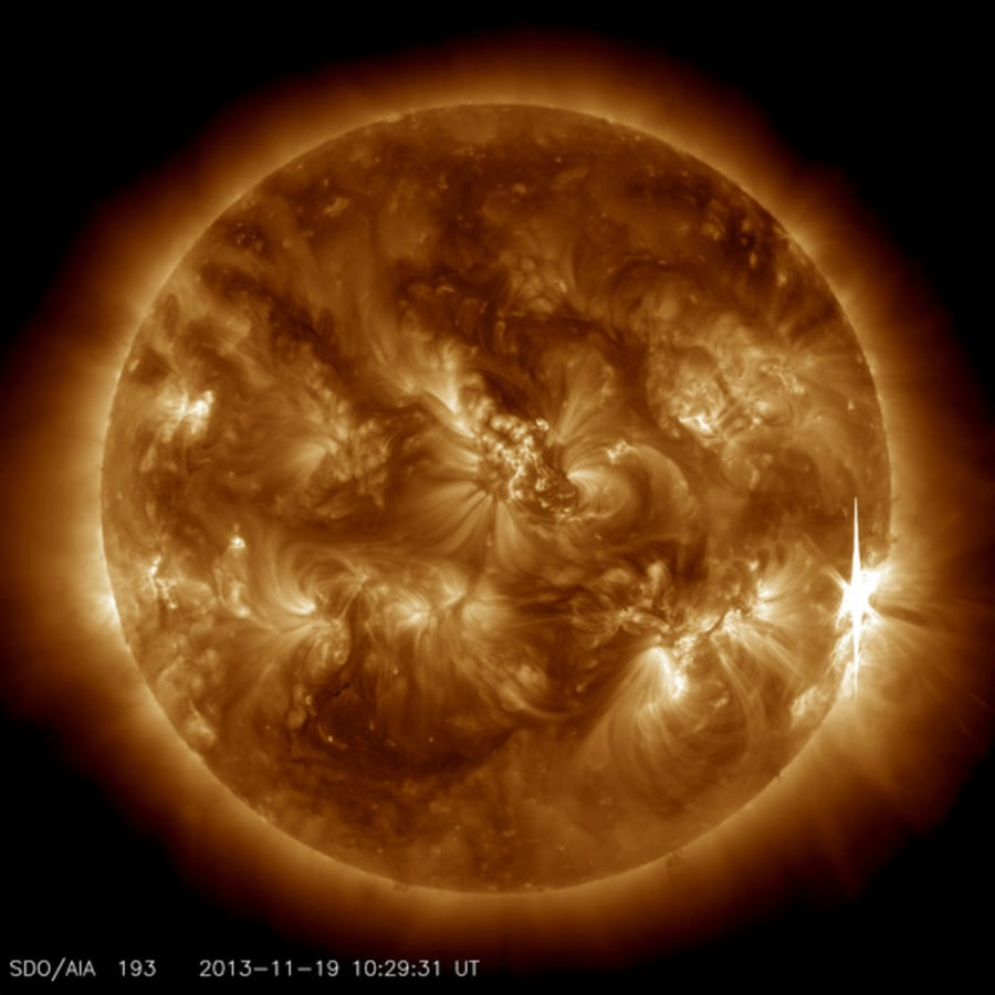 Sun fires off powerful solar flare, triggering radio