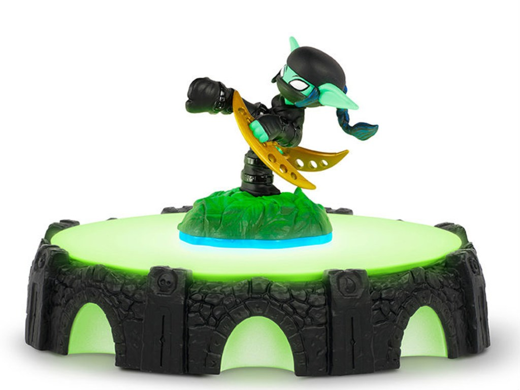 New Skylanders toys come in two parts, and players can mix and match them in the real world, and watch their abilities change in the game.