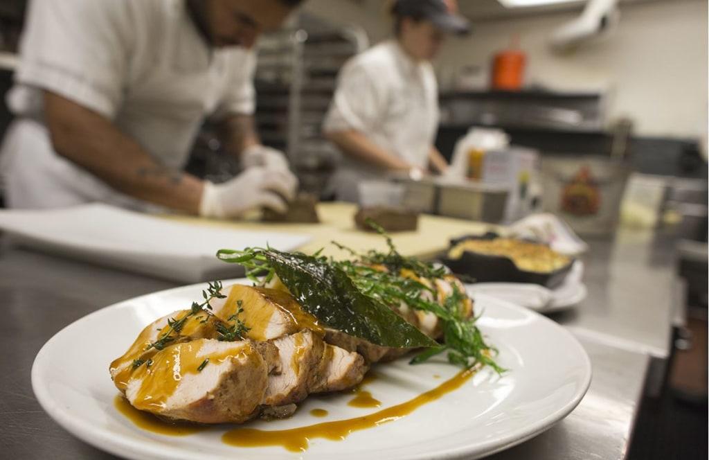 "Chefs prepare a special ""Thanksgivukkah"" menu"