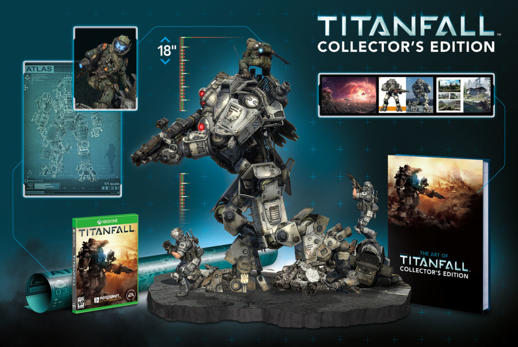 """The $250 collector's edition of """"Titanfall"""" features an 18-inch replica of one of the game's giant mech suits for those gamers who have been especially agitated by the lack of giant mechs in recent video games."""