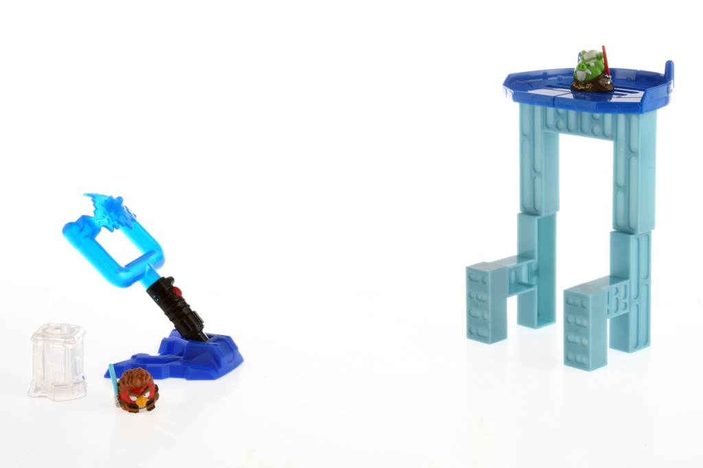 """""""Angry Birds Star Wars II"""" is the first game in the popular bird-flinging series that brings physical toys into the mix."""
