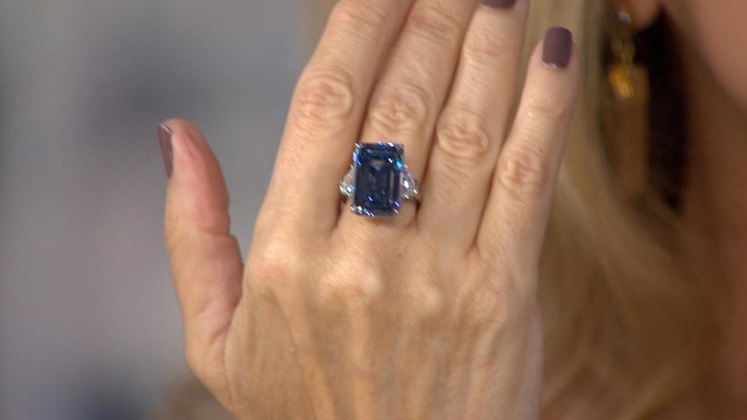 Oppenheimer Blue Diamond Sells At Auction For 57 5