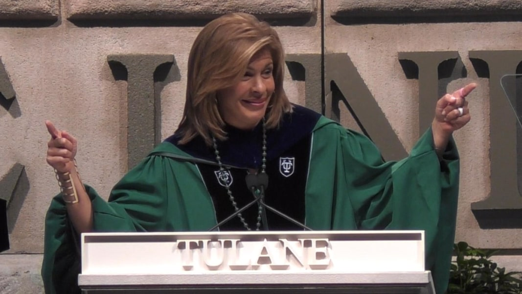 Tulanes Mental Health Meltdown Must >> Watch Hoda Kotb S Full Tulane Commencement Speech Nbc News