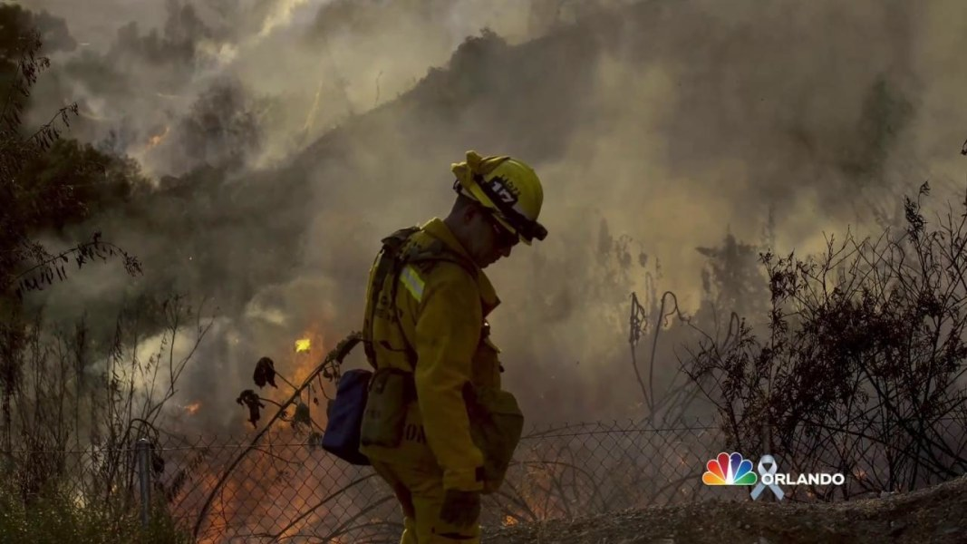 Simmering Heat Fuels the Flames for Pair of California Wildfires ...