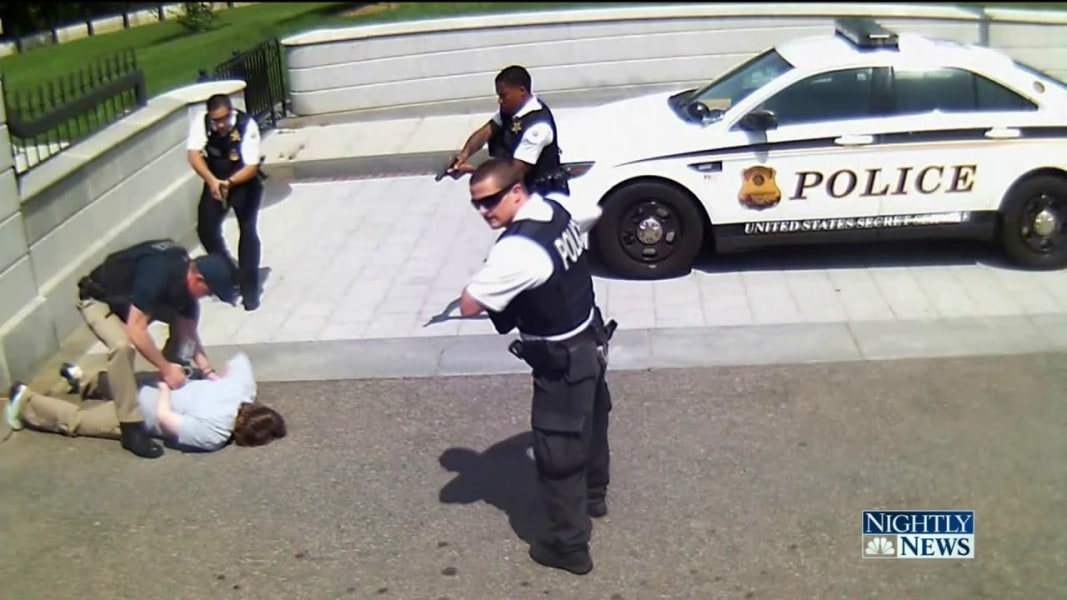 Elegant Dramatic Surveillance Video Shows Shooting Near White House