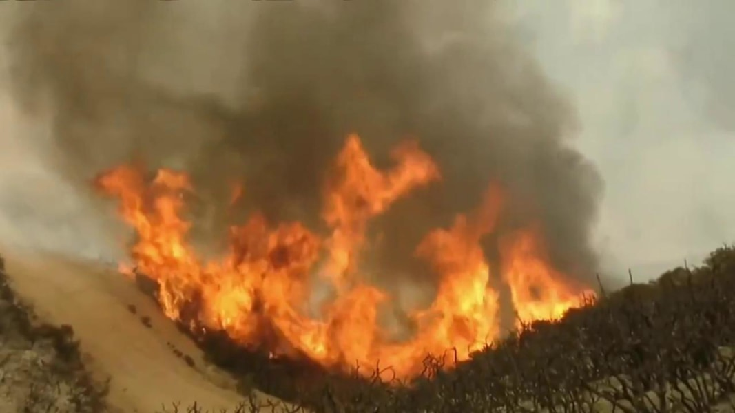 Images Progress Made Against Wildfire North of L.A., While Big Sur Blaze Grows  - NBC News 5