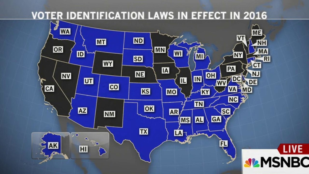 Analysis New Wisconsin Voter ID Rules Expose Laws Real Aim NBC - Map of voter id laws in the us