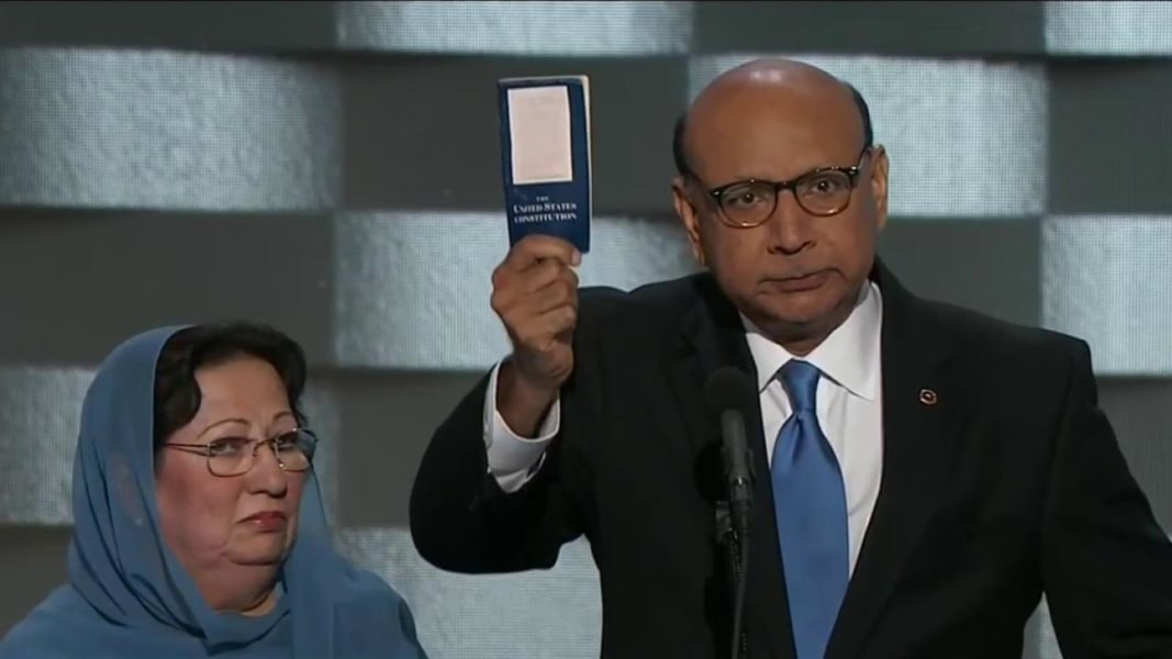 politics election gold star families attack trump over comments about ghazala khan