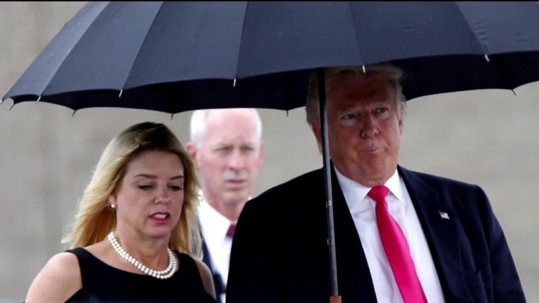 Donald Trump And Pam Bondi Candidate Dismisses Questions