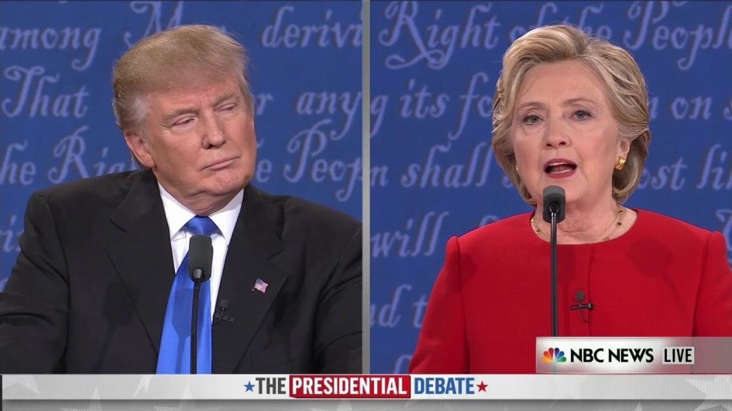Key Moments Of The First Presidential Debate Between Trump - Us election nbc map