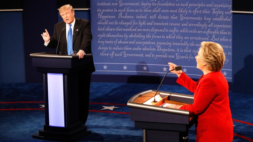 Image result for trump hillary debate